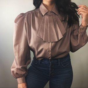 VINTAGE/ dot blouse